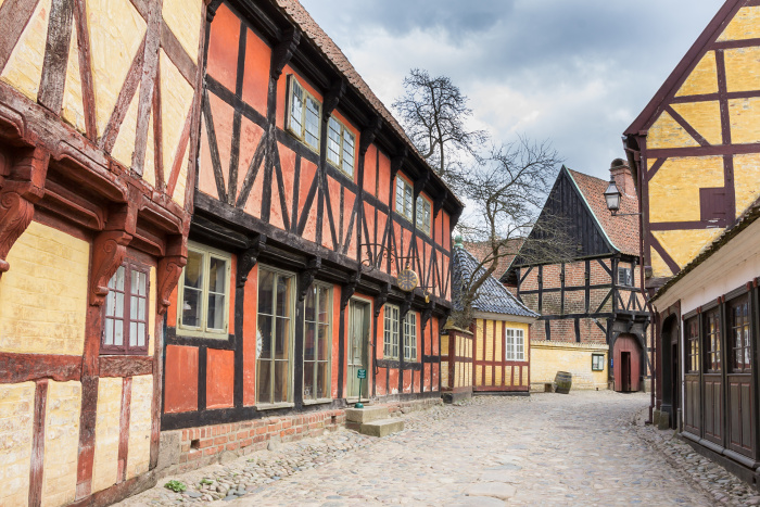 A cobbled street in Aarhus' historical open-air museum, Den Gamle By © HildaWeges Photography - Shutterstock Images