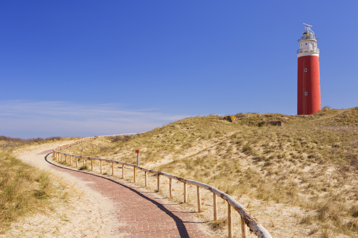 Climb the 153 steps of Texel's crimson-coloured lighthouse for views across the islands© Sara Winter / ShutterStock