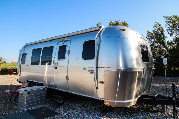 Comfy Airstream trailers await guests at Camp Silver Island Hideaway © Catherine Le Nevez - Lonely Planet