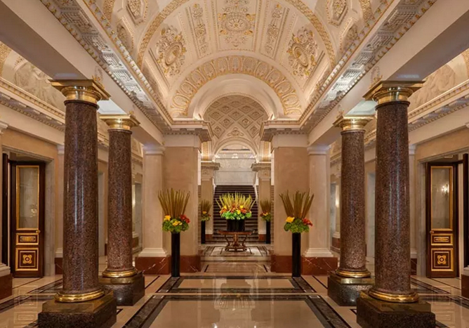 Four Seasons Hotel Lion Palace, St Petersburg, Russia  Read more: http://www.lonelyplanet.com/travel-tips-and-articles/sleeping-inside-a-landmark-seven-historic-buildings-reopen-their-doors#ixzz3p1WOQMva