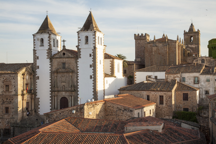 Old town of Caceres with the San Francisco Javier church on the background, Extremadura, Spain©Santiago Urquijo/Getty Images