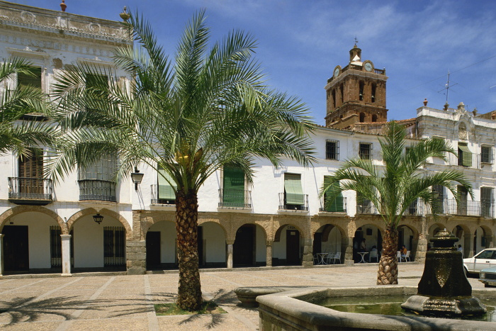 Take a break under the palm trees in Zafra's Plaza Grande © Michael Busselle - Robert Harding - Getty Images
