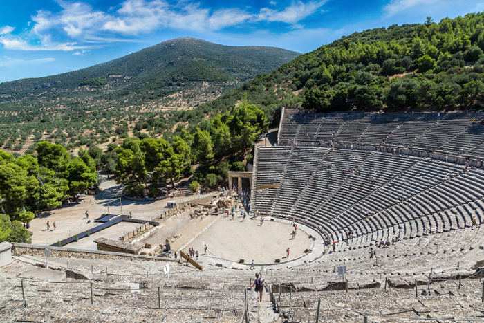 The ancient Theatre of Epidavros © S-F - Shutterstock