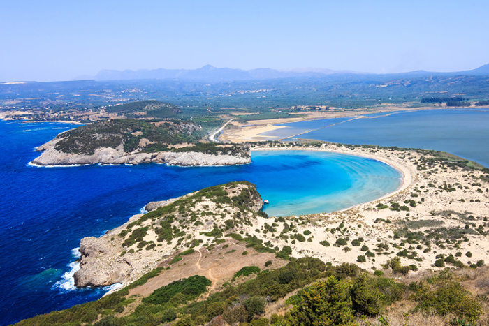 The lagoon of Voidokilia in the Bay of Navarino © Nick Pavlakis - Shutterstock