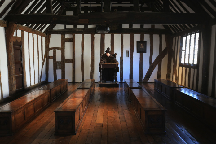 The room in which Shakespeare was taught is now open to the public -© Christopher Furlong - Getty Images